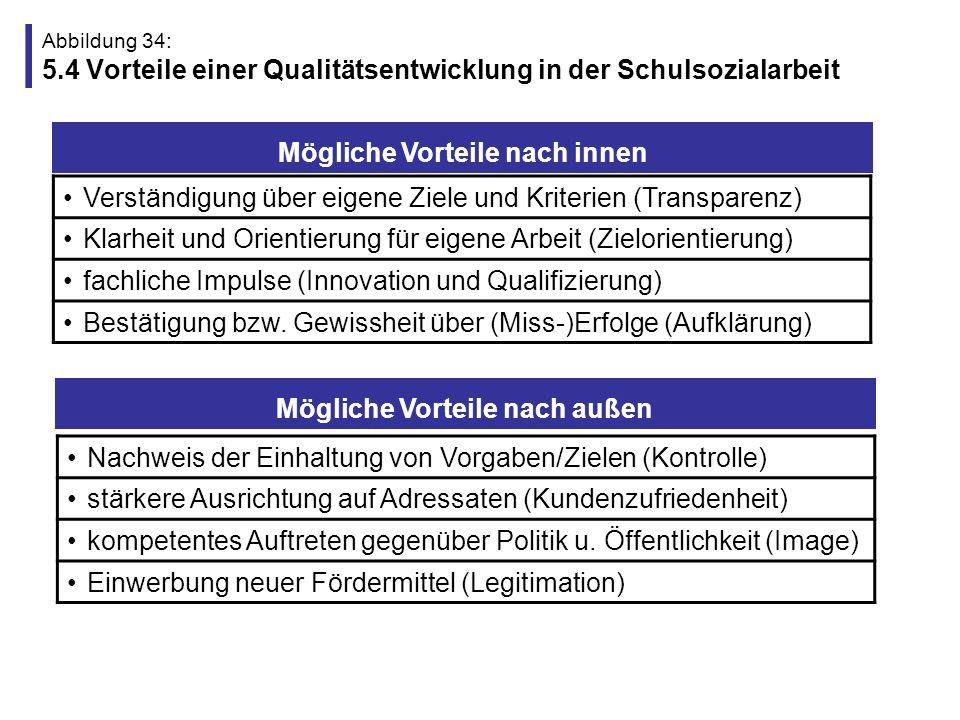 Abbildung 35: 5.5 Funktion der JA-MitarbeiterInnen und Trägerkooperation 1.Eigene Evaluation und Qualitätsentwicklung durchführen und nachweisen.