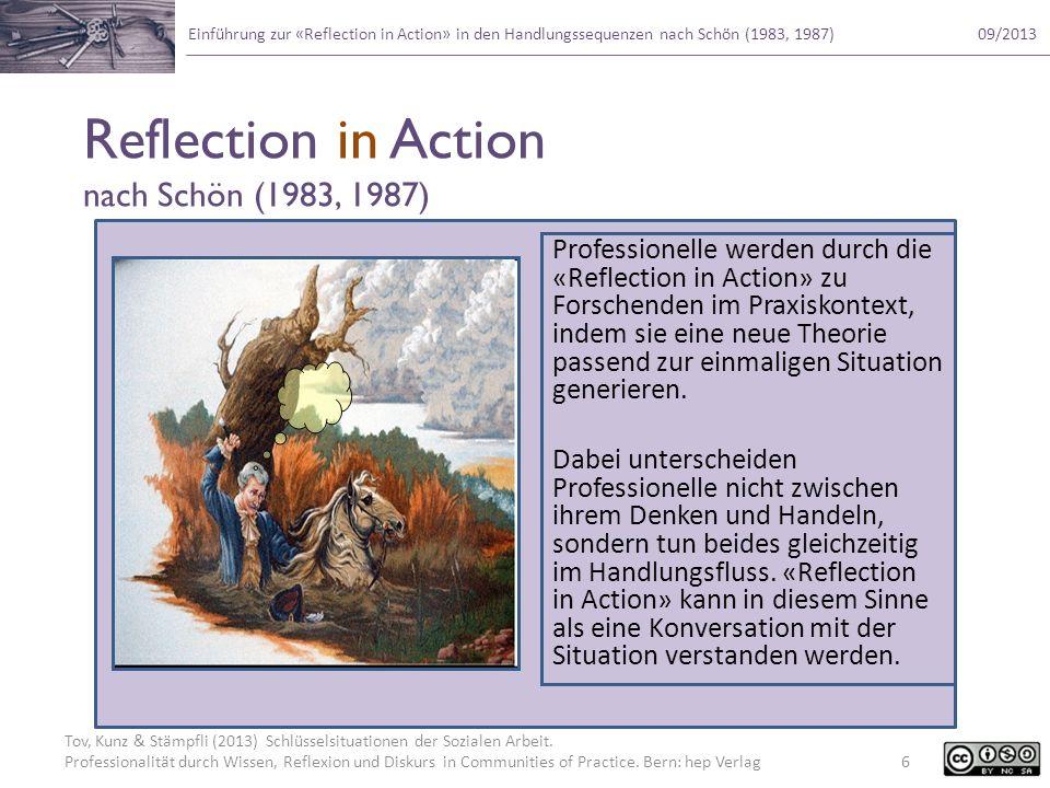 Tov, Kunz & Stämpfli (2013) Schlüsselsituationen der Sozialen Arbeit. Professionalität durch Wissen, Reflexion und Diskurs in Communities of Practice.