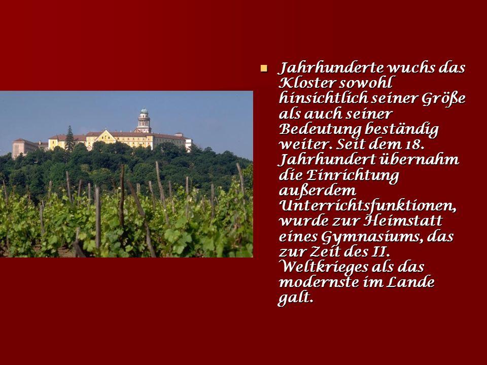 Benediktinerabtei Pannonhalma Fürst Géza, Vater des Staatsgründers König István I. (Hl. Stefan), siedelte in Pannonhalma jene deutschstämmigen Benedik