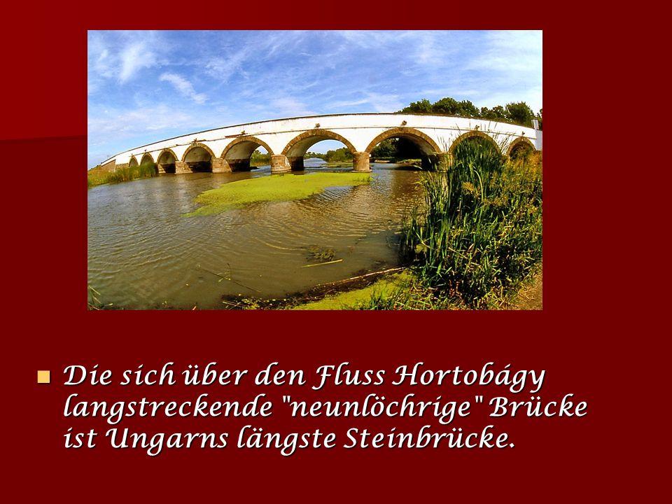 Nationalpark Hortobágy Die Hortobágy bildet eine flache, begraste Puszta vom Rande der Hajdúság bis zur Theiß auf 115 km2. Um ihre natürlichen Werte u