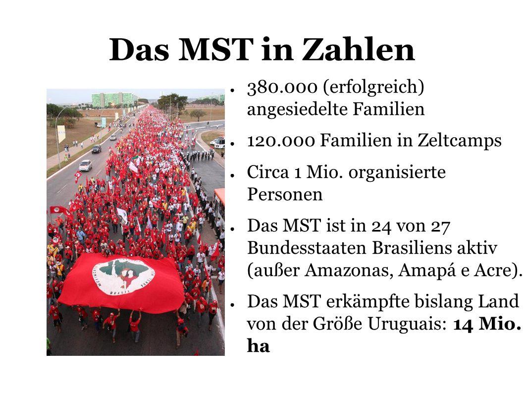 Das MST in Zahlen 380.000 (erfolgreich) angesiedelte Familien 120.000 Familien in Zeltcamps Circa 1 Mio.