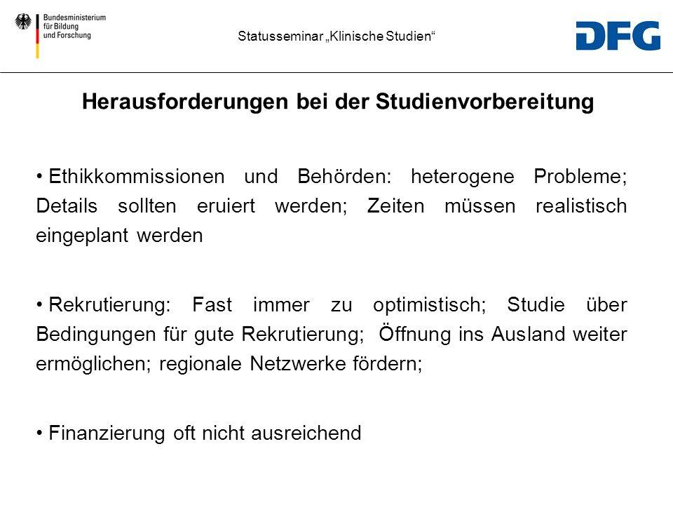 Statusseminar Klinische Studien II.