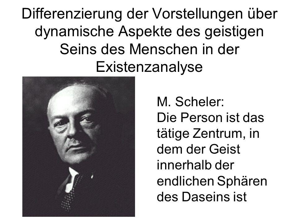 Differenzierung der Vorstellungen über dynamische Aspekte des geistigen Seins des Menschen in der Existenzanalyse M. Scheler: Die Person ist das tätig