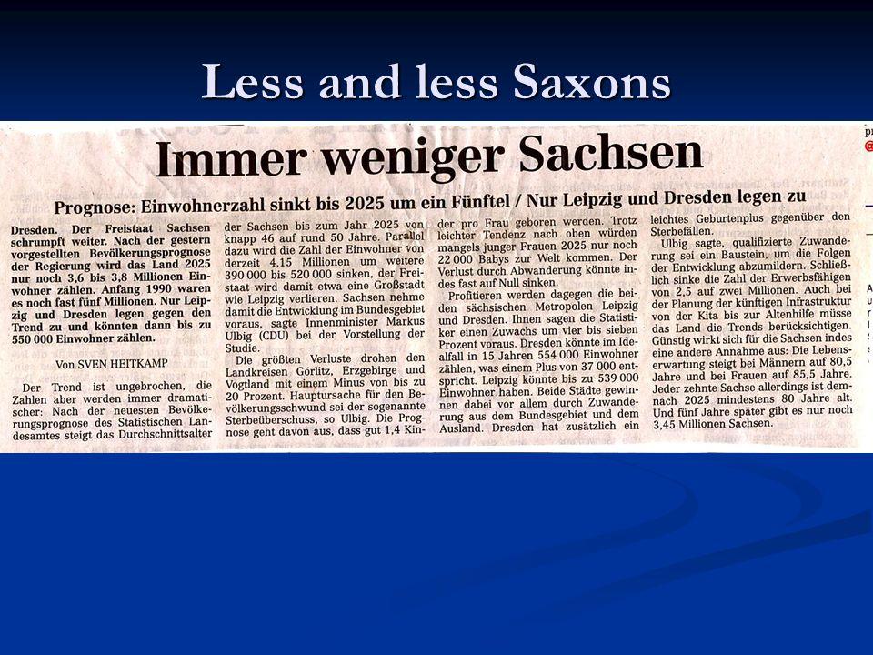 Less and less Saxons