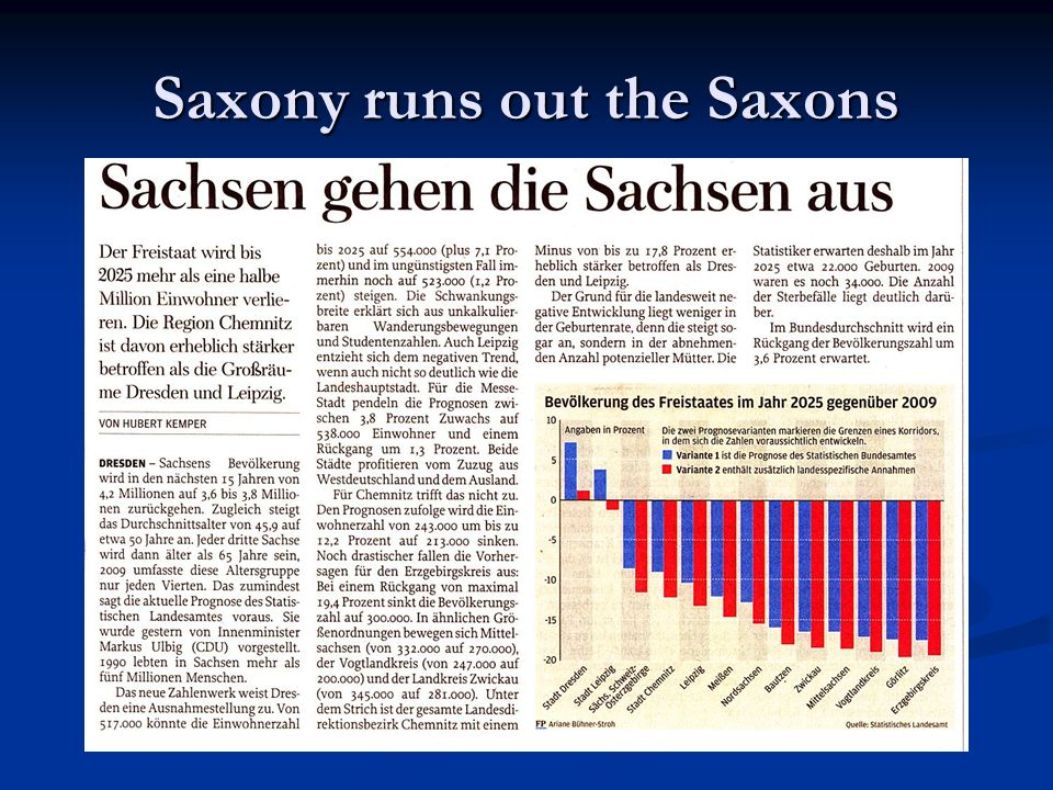 Less and less Saxons