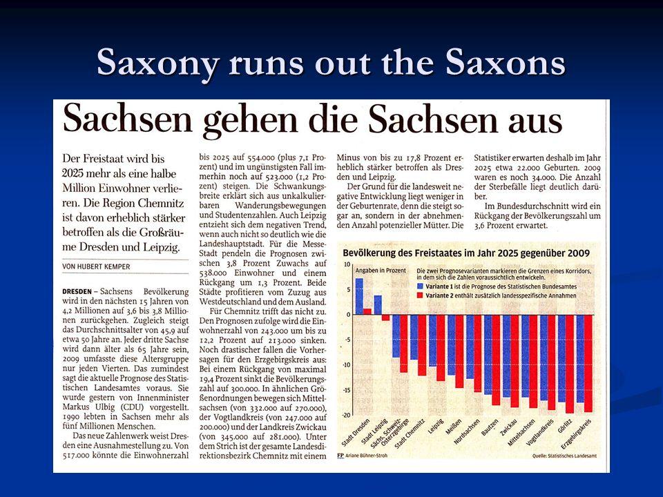 Saxony runs out the Saxons