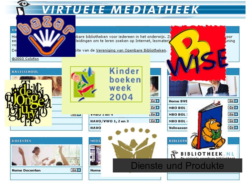 Lesen, Beispiel Niederlanden22 Dienste und Produkte