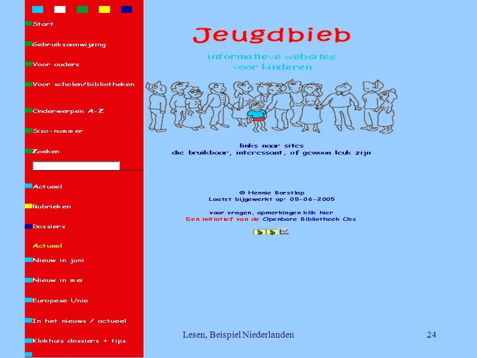 Lesen, Beispiel Niederlanden24