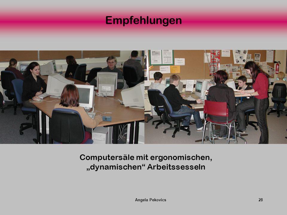 Angela Pekovics28 Empfehlungen Computersäle mit ergonomischen, dynamischen Arbeitssesseln