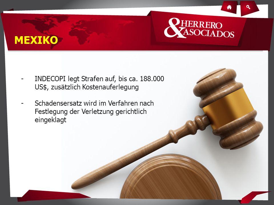 -INDECOPI legt Strafen auf, bis ca.