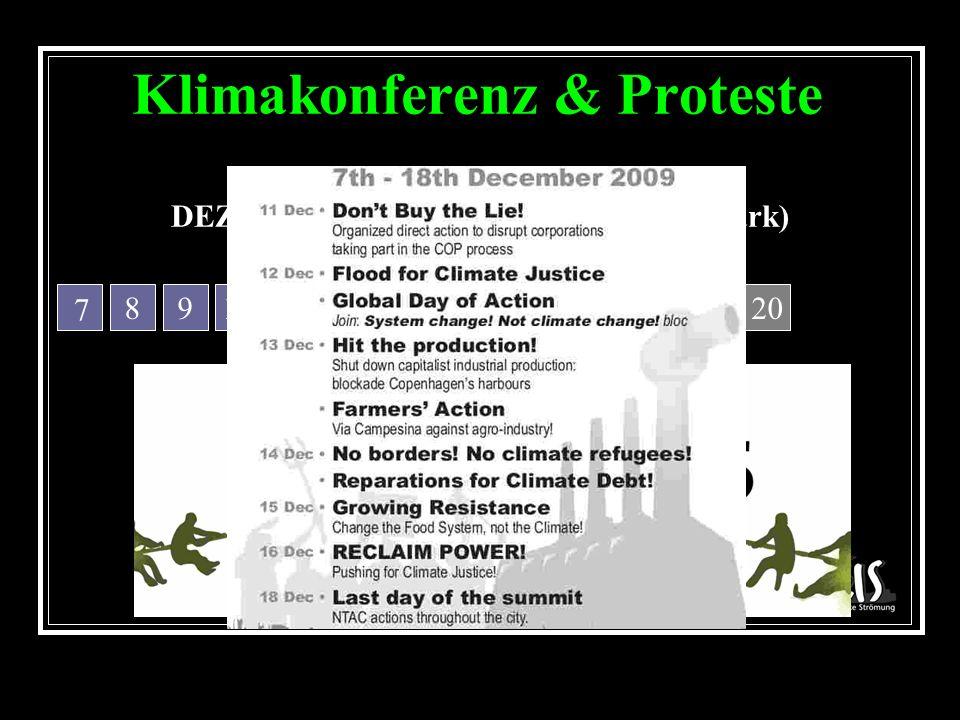 Klimakonferenz & Proteste DEZEMBER 2009, Kopenhagen (Dänemark) 891011121314152019181716 7