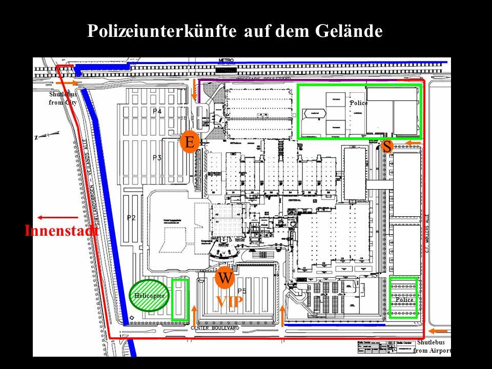 Helicopter W E S VIP Police Shutlebus from Airport Shutlebus from City Polizeiunterkünfte auf dem Gelände Innenstadt
