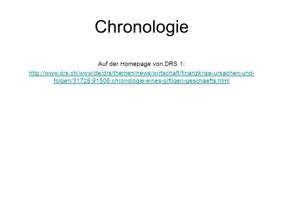 Chronologie Auf der Homepage von DRS 1: http://www.drs.ch/www/de/drs/themen/news/wirtschaft/finanzkrise-ursachen-und- folgen/31728.91506.chronologie-e