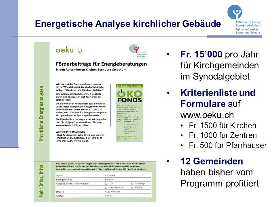 Energetische Analyse kirchlicher Gebäude Fr.