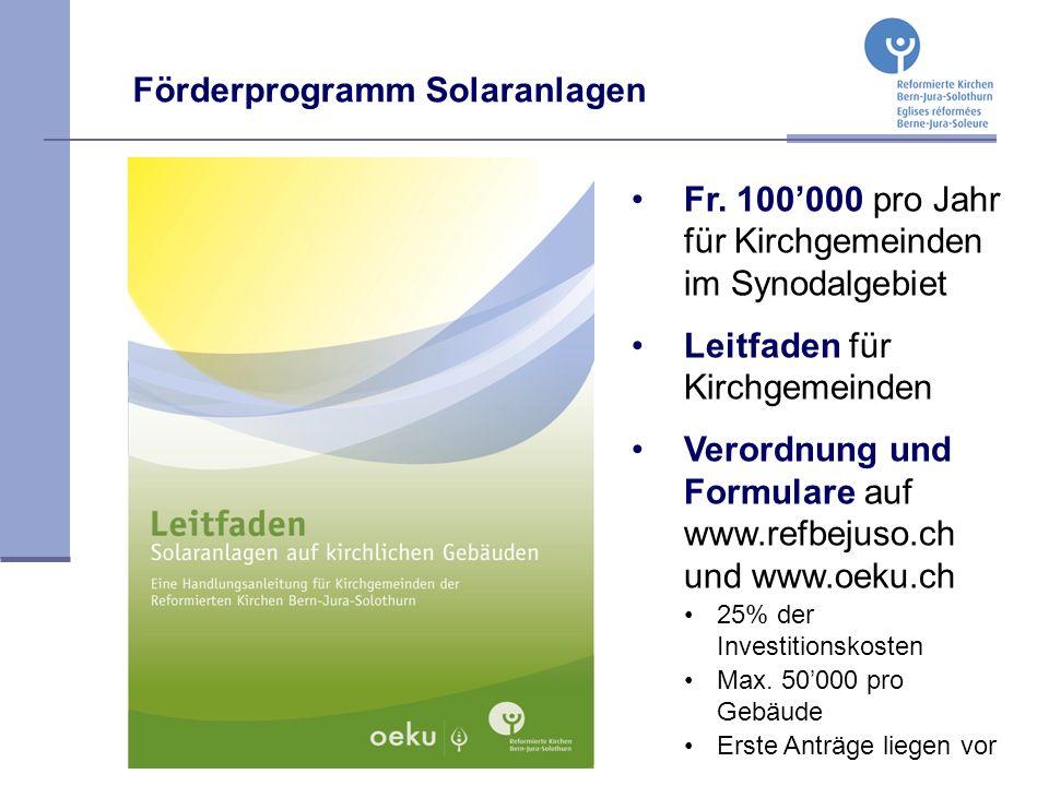 Förderprogramm Solaranlagen Fr.