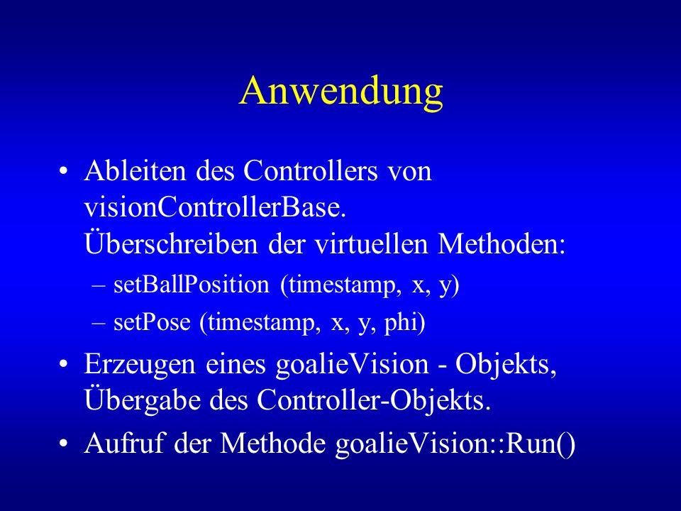Anwendung Ableiten des Controllers von visionControllerBase.