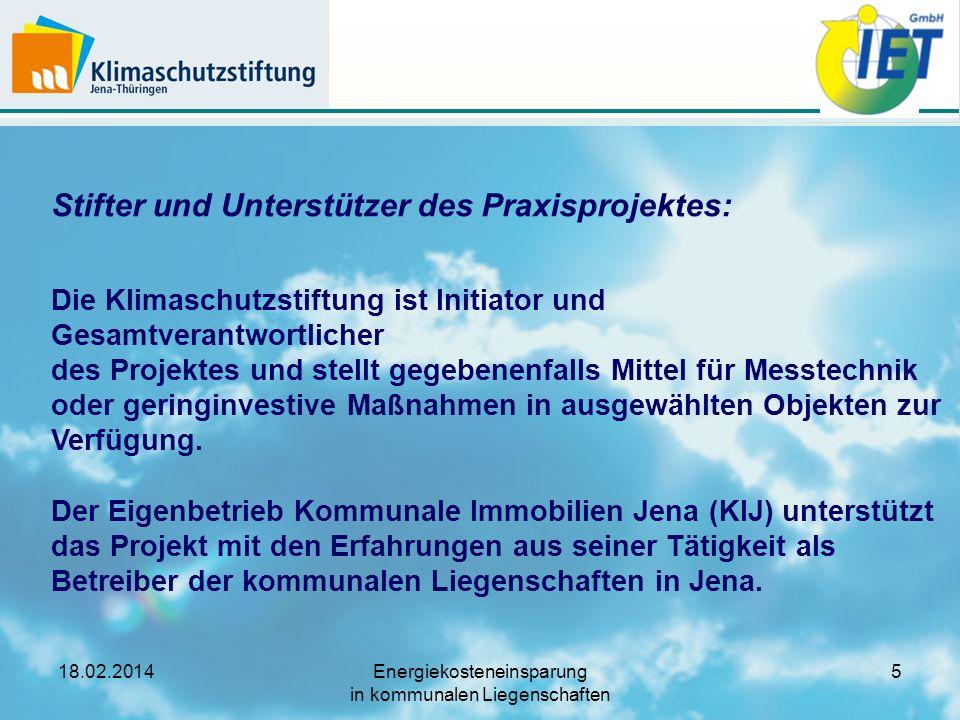 18.02.2014Energiekosteneinsparung in kommunalen Liegenschaften 26 Arbeitsschritt (3): Monitoring vorbereiten Monatliche Erfassung Wärme (Gas) (hier Muster)