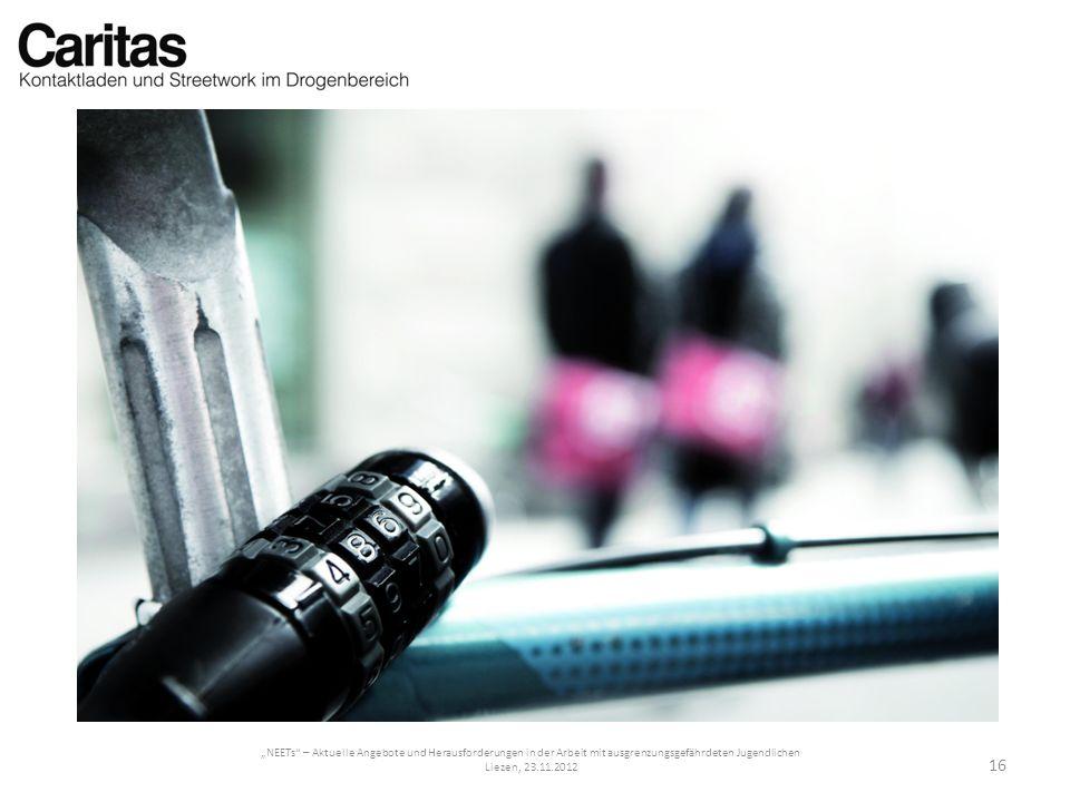 NEETs – Aktuelle Angebote und Herausforderungen in der Arbeit mit ausgrenzungsgefährdeten Jugendlichen Liezen, 23.11.2012 16