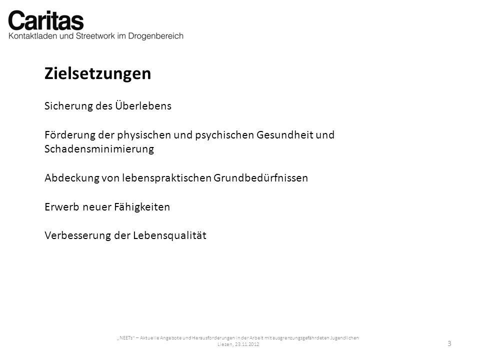 NEETs – Aktuelle Angebote und Herausforderungen in der Arbeit mit ausgrenzungsgefährdeten Jugendlichen Liezen, 23.11.2012