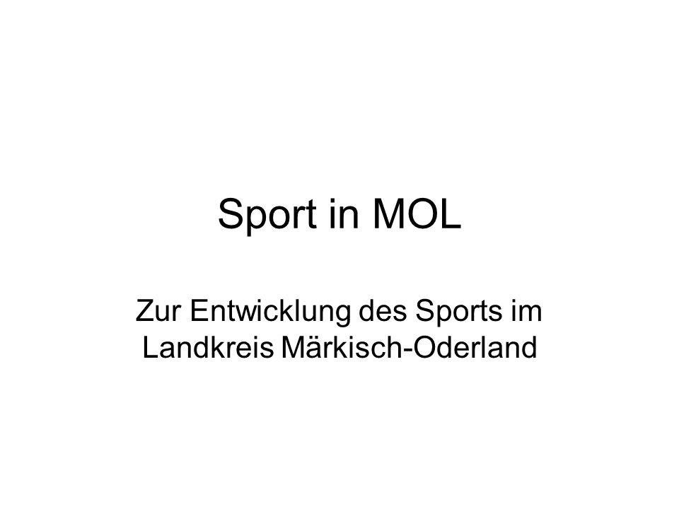 Sport in MOL Zur Entwicklung des Sports im Landkreis Märkisch-Oderland