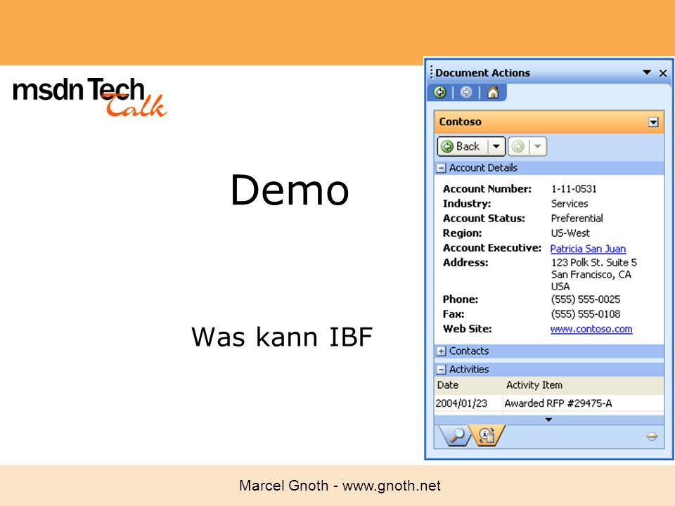 Marcel Gnoth - www.gnoth.net Demo Was kann IBF
