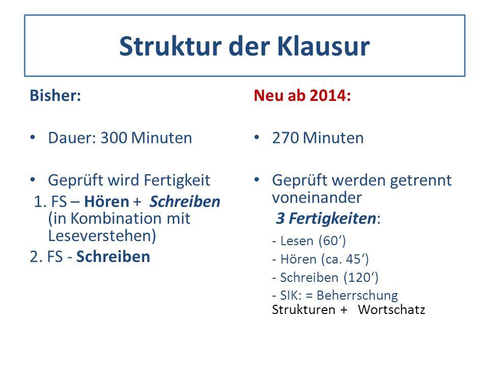 Aufgabenstellung Bisher – autonom von Klassenlehrer/in erstellt 1.