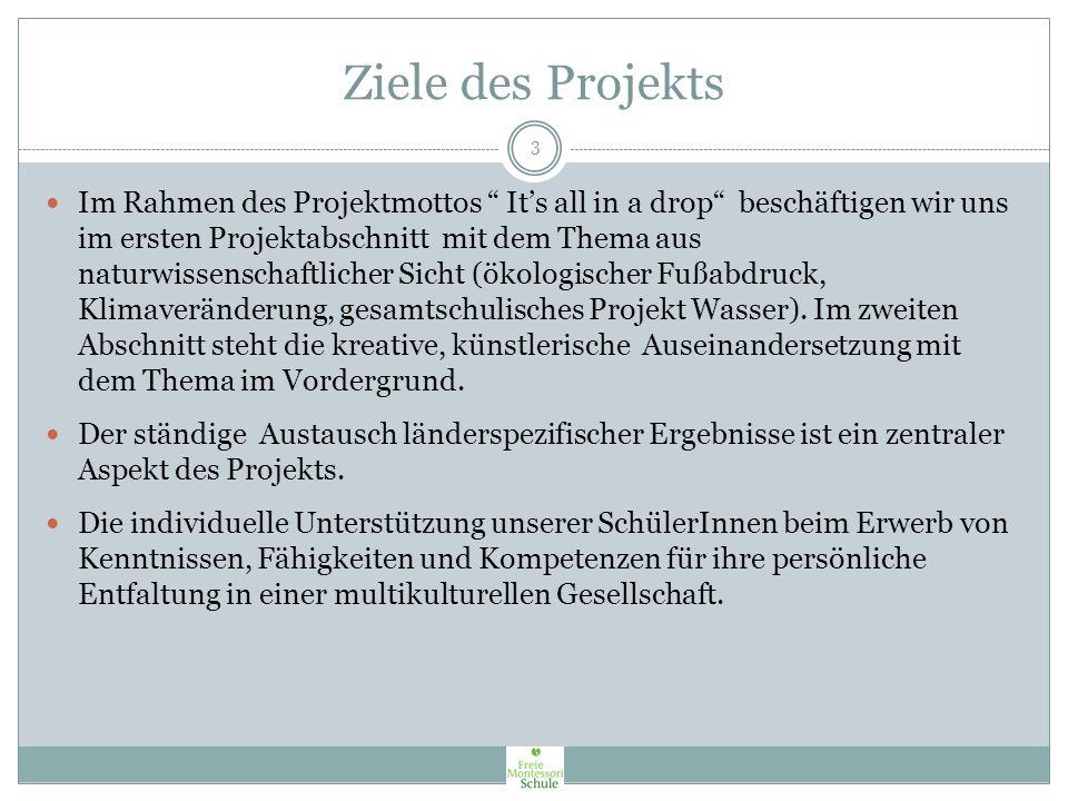 Ziele des Projekts COMENIUS – Europa im Klassenzimmer - verfolgt folgende Ziele: Verbesserung und Erhöhung der Mobilität von SchülerInnen und PädagogI