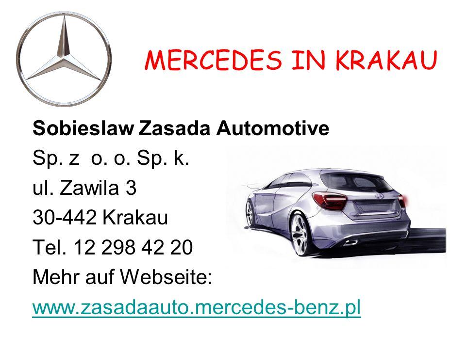 MERCEDES IN KRAKAU Sobieslaw Zasada Automotive Sp.