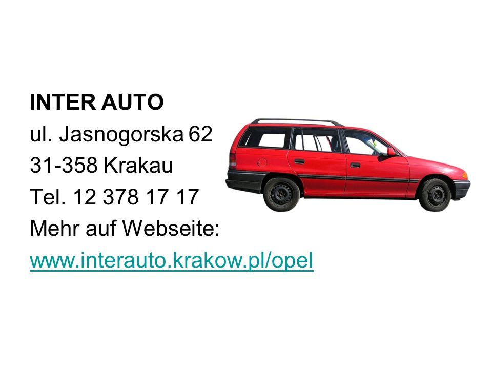 INTER AUTO ul.Jasnogorska 62 31-358 Krakau Tel.
