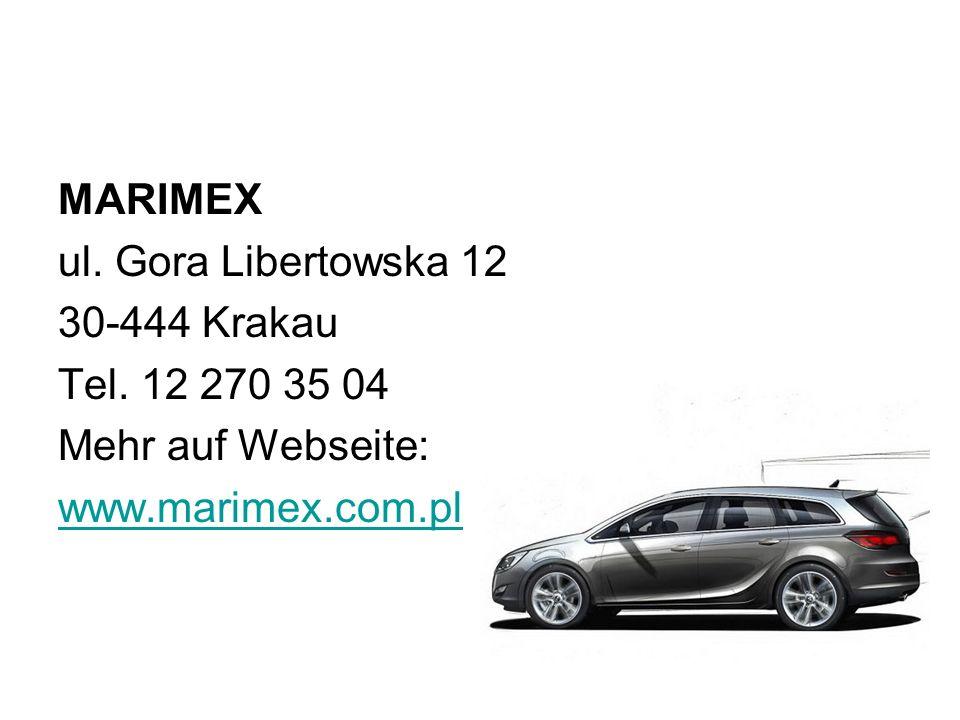 MARIMEX ul.Gora Libertowska 12 30-444 Krakau Tel.