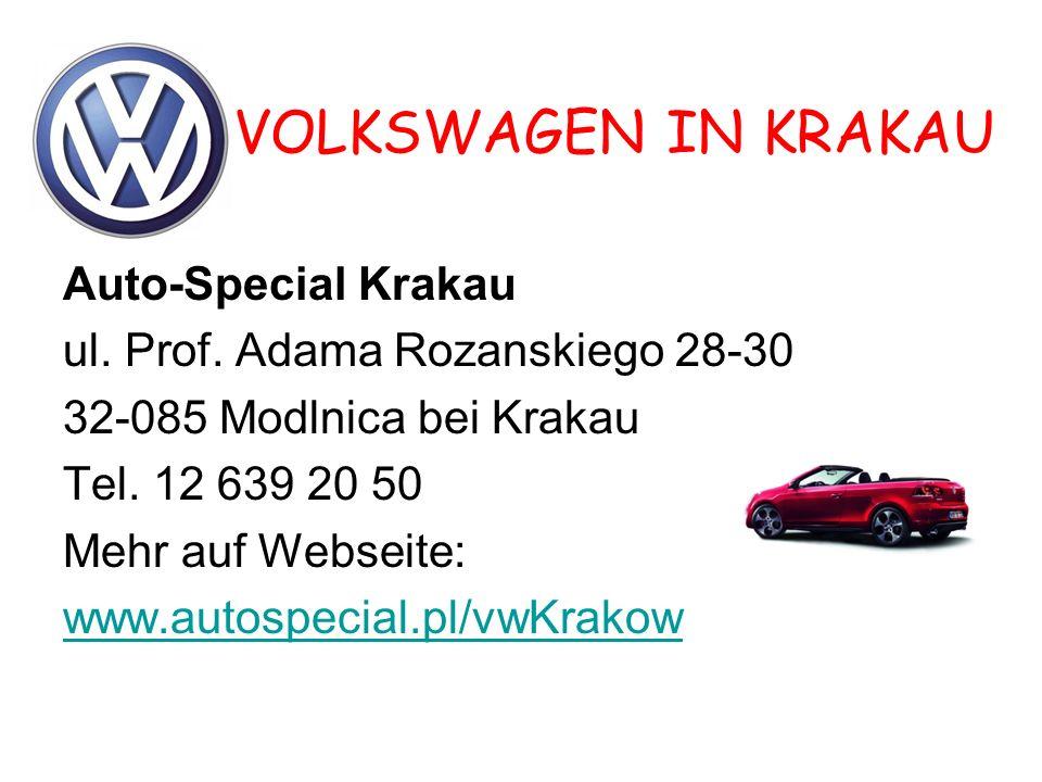 VOLKSWAGEN IN KRAKAU Auto-Special Krakau ul.Prof.
