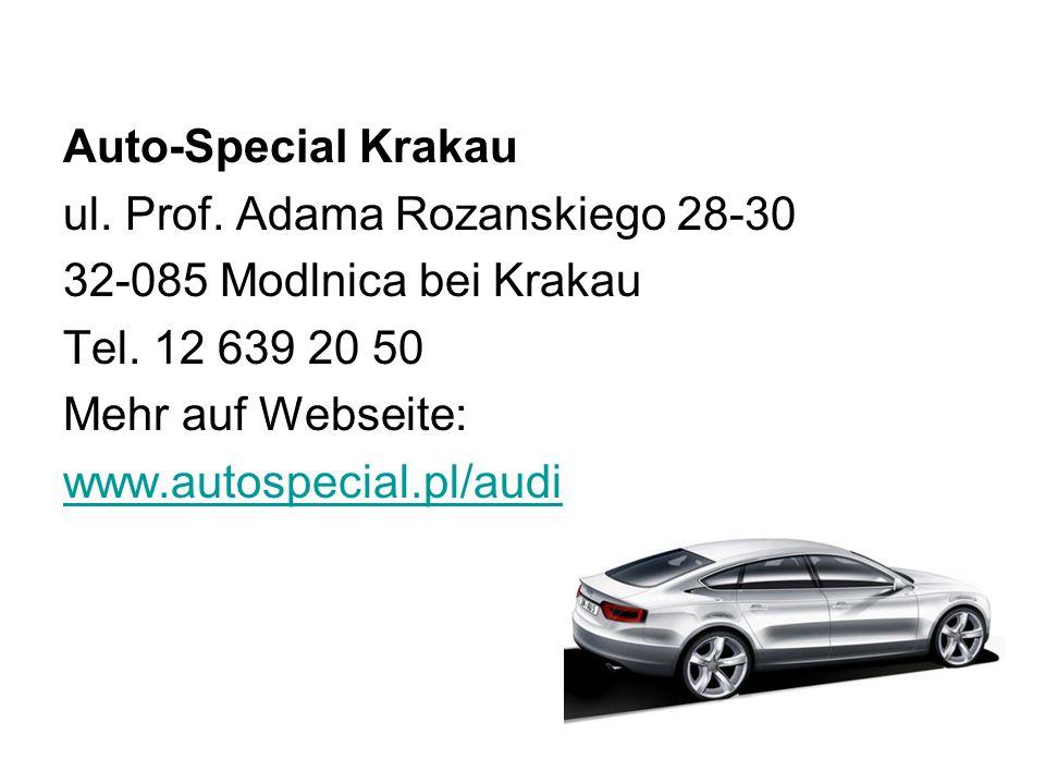 Auto-Special Krakau ul.Prof. Adama Rozanskiego 28-30 32-085 Modlnica bei Krakau Tel.