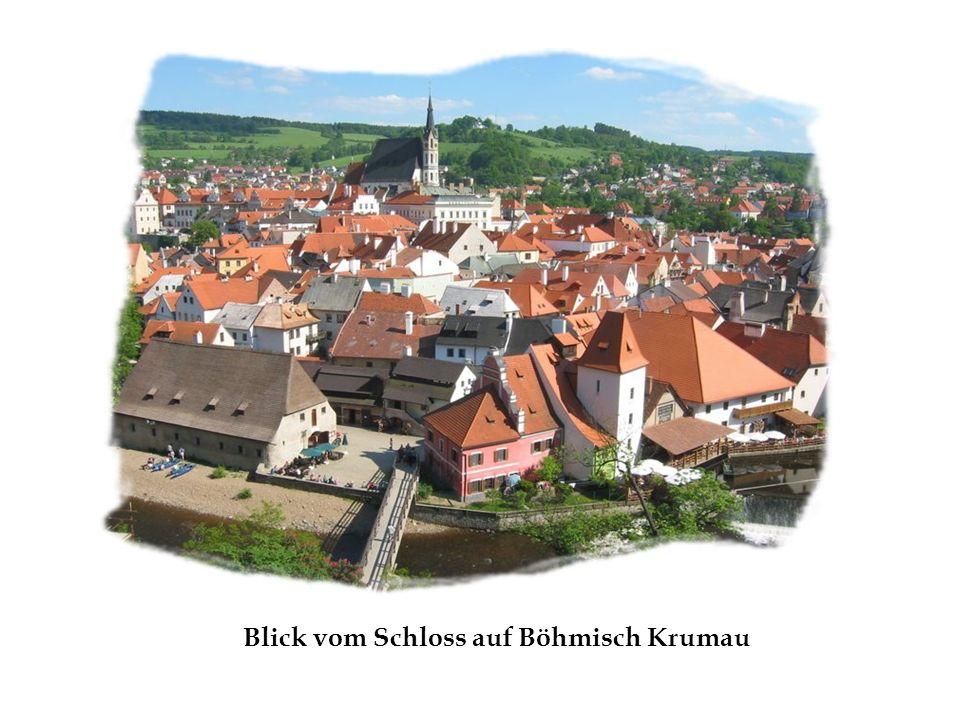 Blick vom Schloss auf Böhmisch Krumau