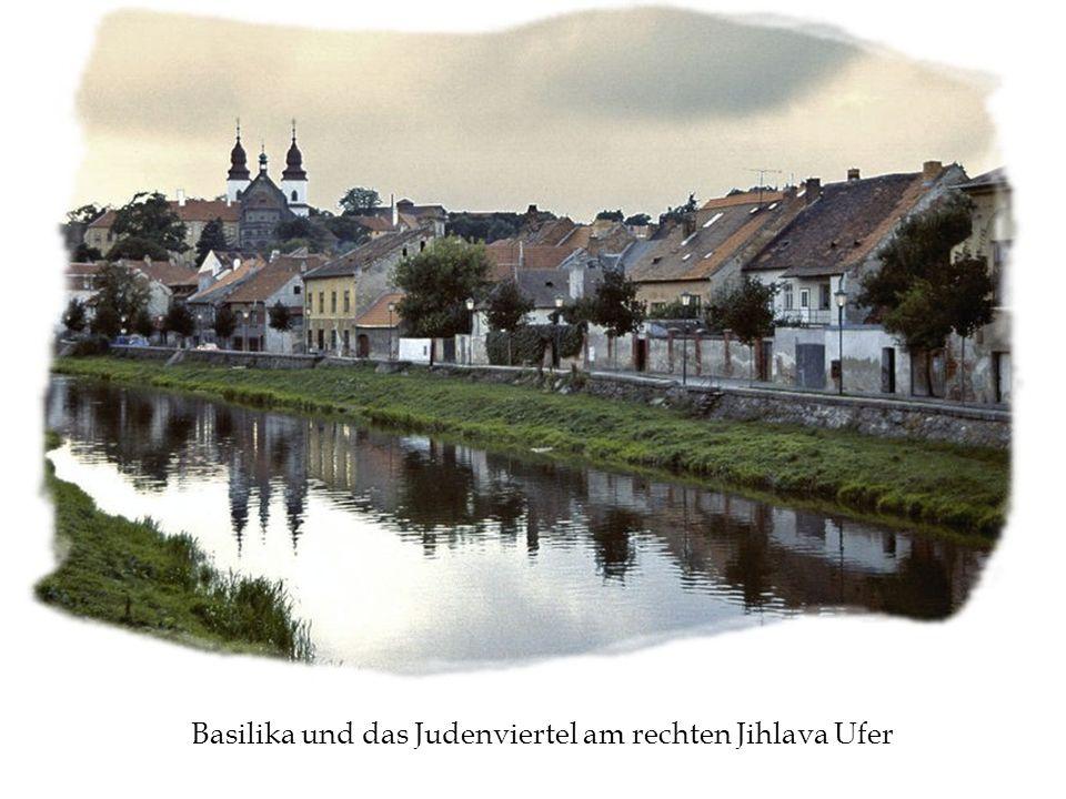 Basilika und das Judenviertel am rechten Jihlava Ufer