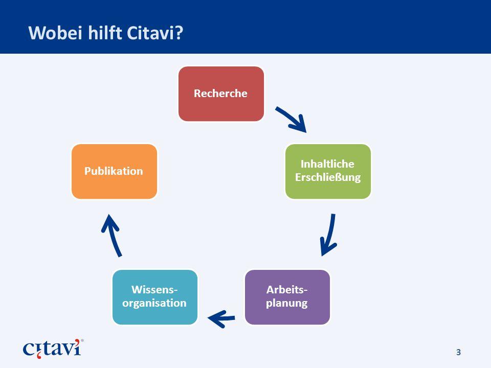 Wie ist Citavi aufgebaut.