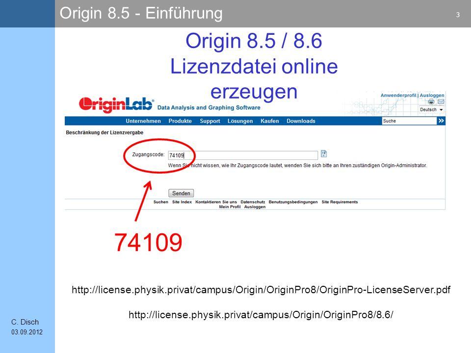 Origin 8.5 - Einführung 3 C.