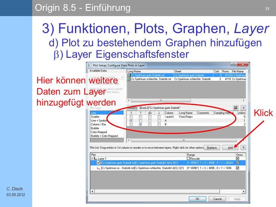 Origin 8.5 - Einführung 31 C.