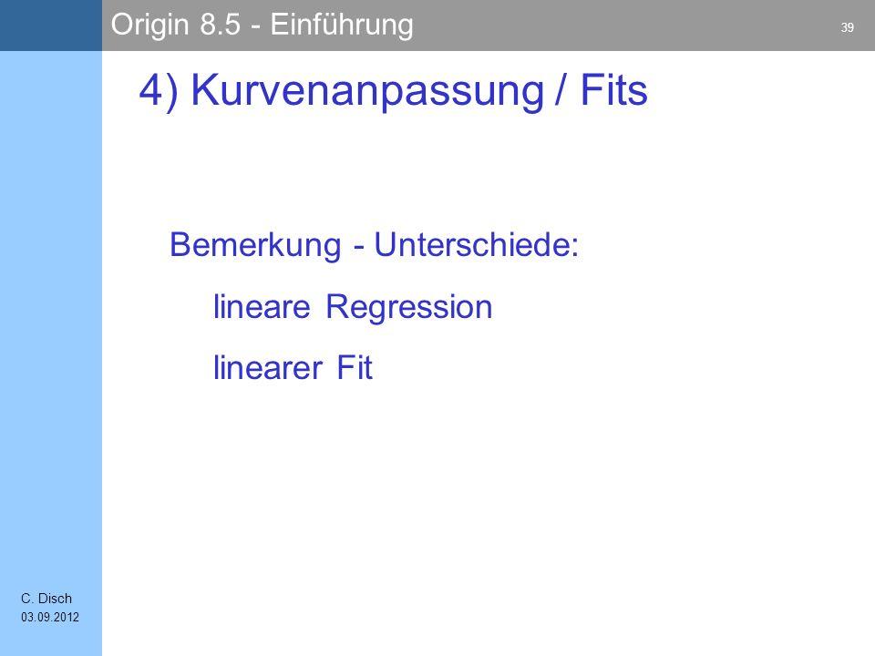 Origin 8.5 - Einführung 39 C.