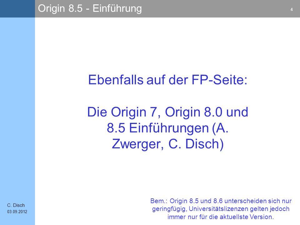 Origin 8.5 - Einführung 4 C.