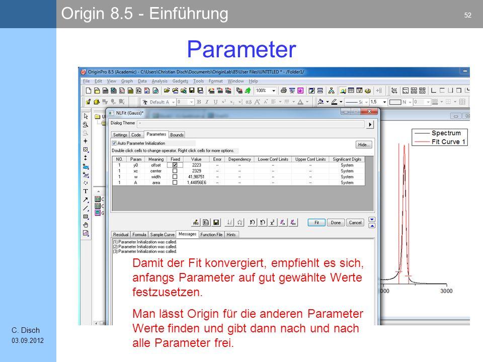 Origin 8.5 - Einführung 52 C.