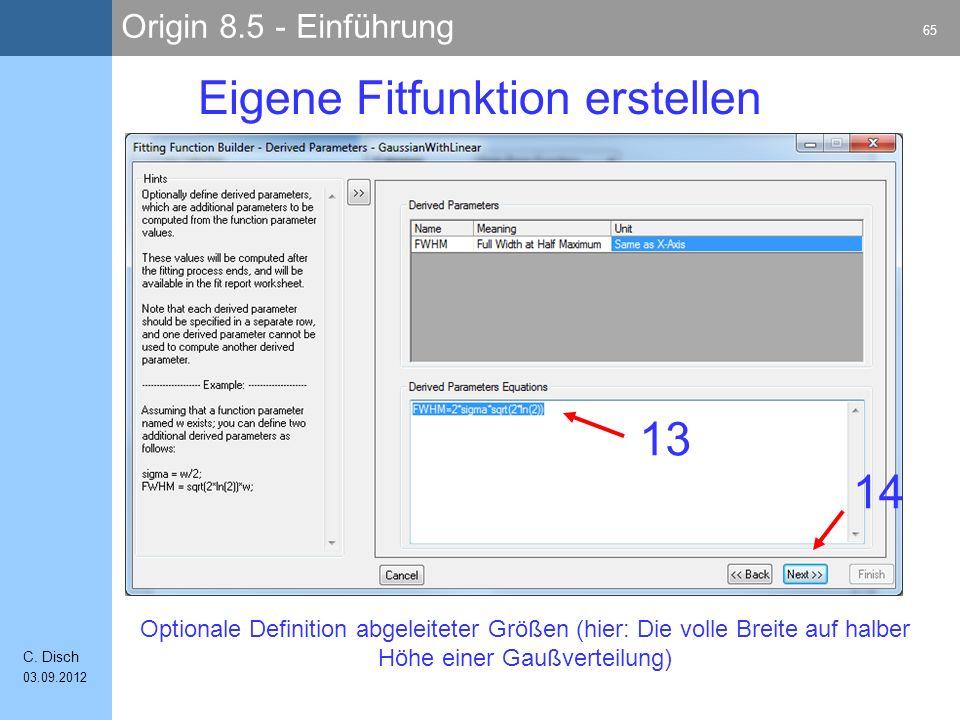 Origin 8.5 - Einführung 65 C.