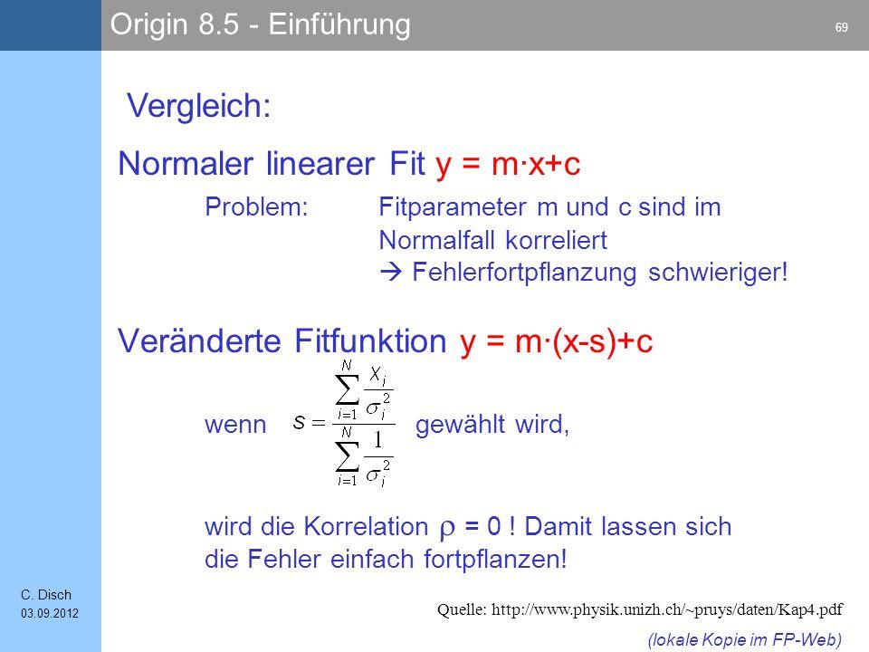 Origin 8.5 - Einführung 69 C.