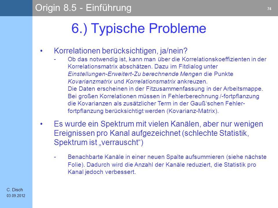 Origin 8.5 - Einführung 74 C.