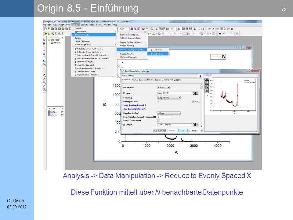 Origin 8.5 - Einführung 75 C.
