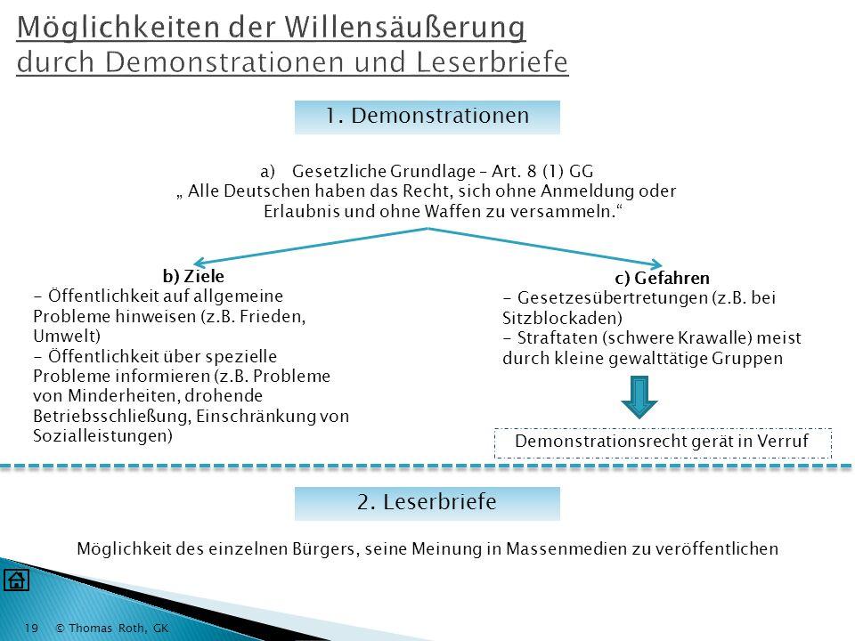 © Thomas Roth, GK18 Bundesversammlung Alle Mitglieder des Bundestages (656) Vertreter der Länderparlam ente (656) WAHLWAHL BUNDESPRÄSIDENT Staatsoberh