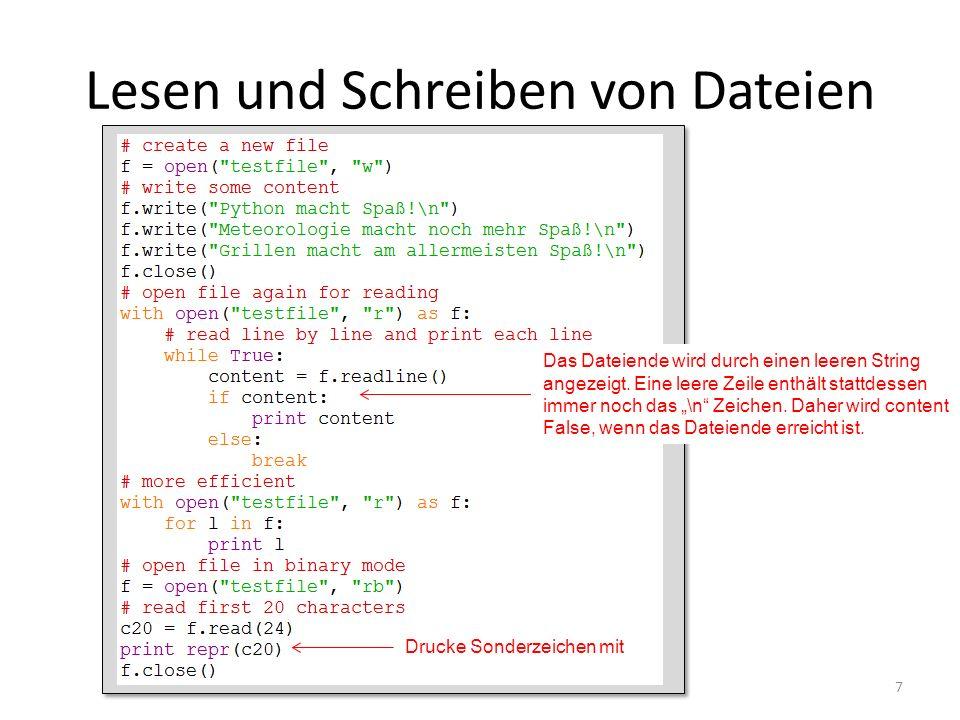 Lesen/Schreiben von Binärdaten (1): tofile und fromfile 8 Was geht hier schief.