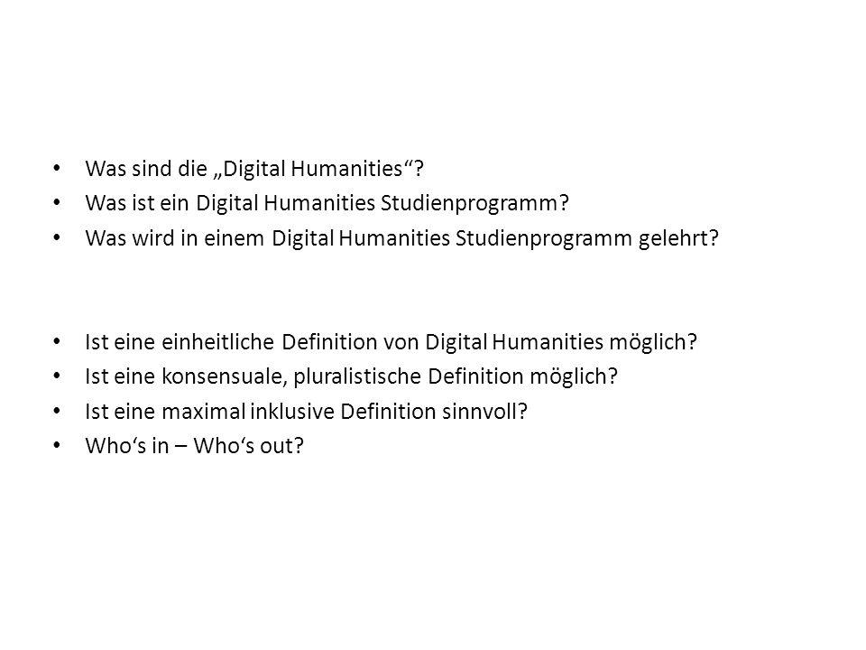 Was sind die Digital Humanities. Was ist ein Digital Humanities Studienprogramm.