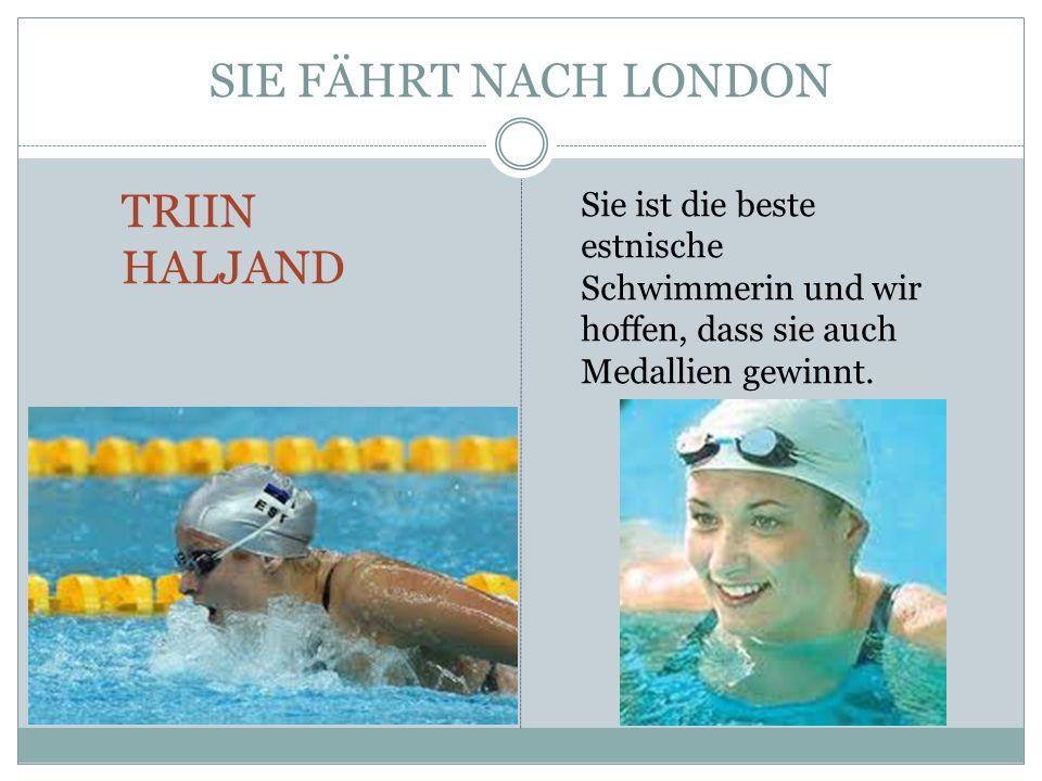 TRIIN HALJAND Triin Haljand ist eine hübsche junge Dame; Sie ist 26 Jahre alt; Sie war im Jahr 2011 die beste Sportlerin des Jahres in Estland; Sie ist 179 cm gross und wiegt 68 Kilo.