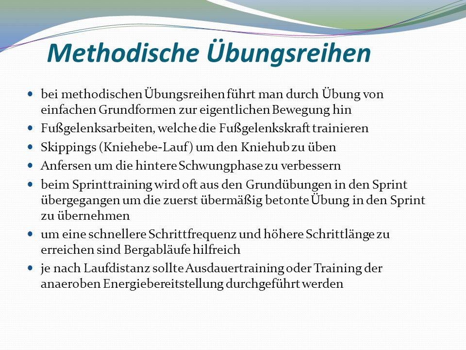 Methodische Übungsreihen bei methodischen Übungsreihen führt man durch Übung von einfachen Grundformen zur eigentlichen Bewegung hin Fußgelenksarbeite