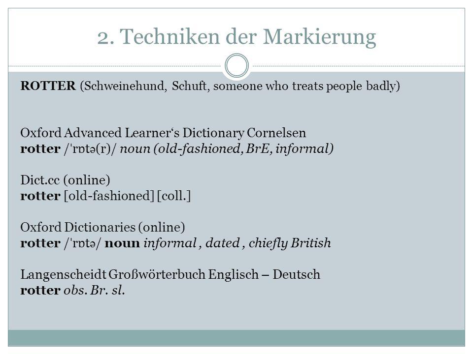 3.Wie valide ist Markierung.